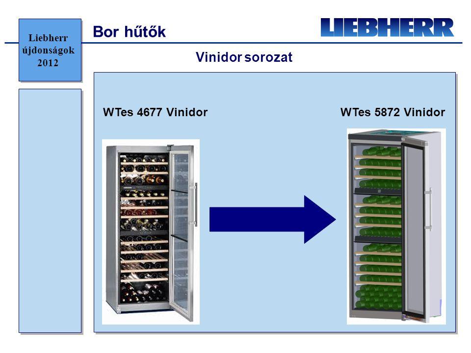 Bor hűtők Vinidor sorozat WTes 4677 Vinidor WTes 5872 Vinidor