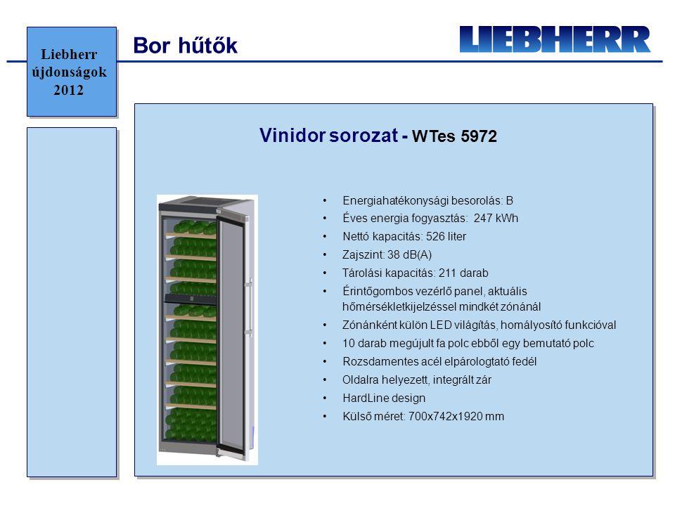 Bor hűtők Vinidor sorozat - WTes 5972 Liebherr újdonságok 2012