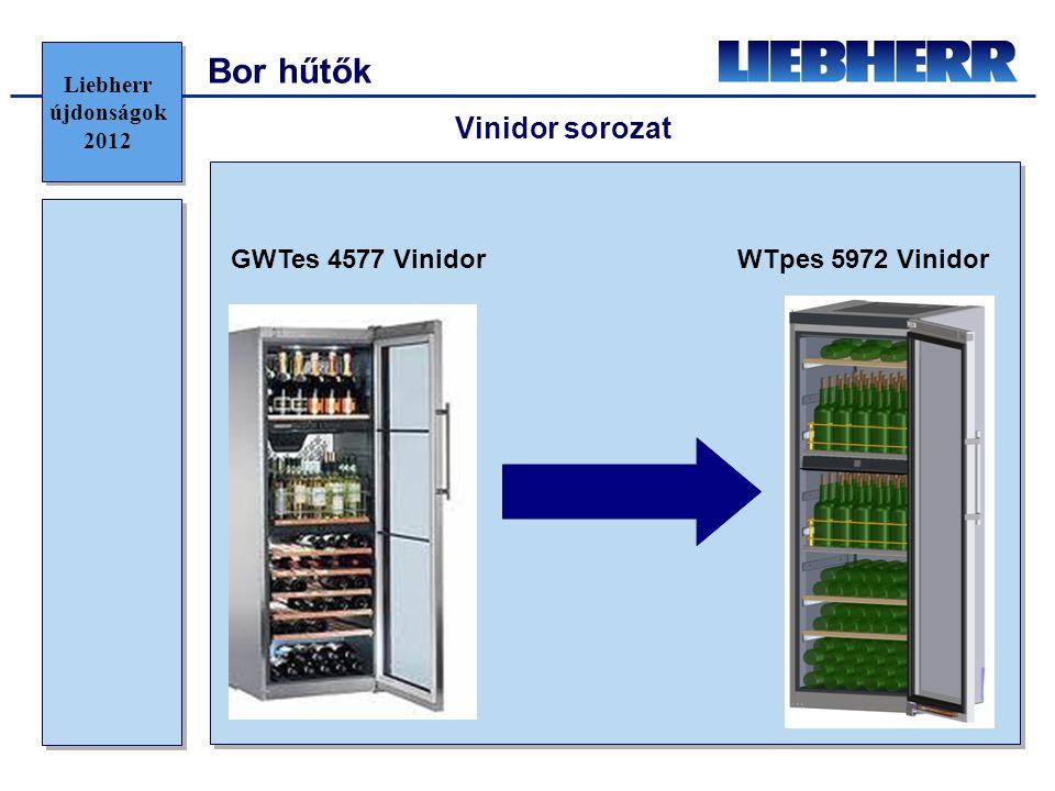 Bor hűtők Vinidor sorozat GWTes 4577 Vinidor WTpes 5972 Vinidor