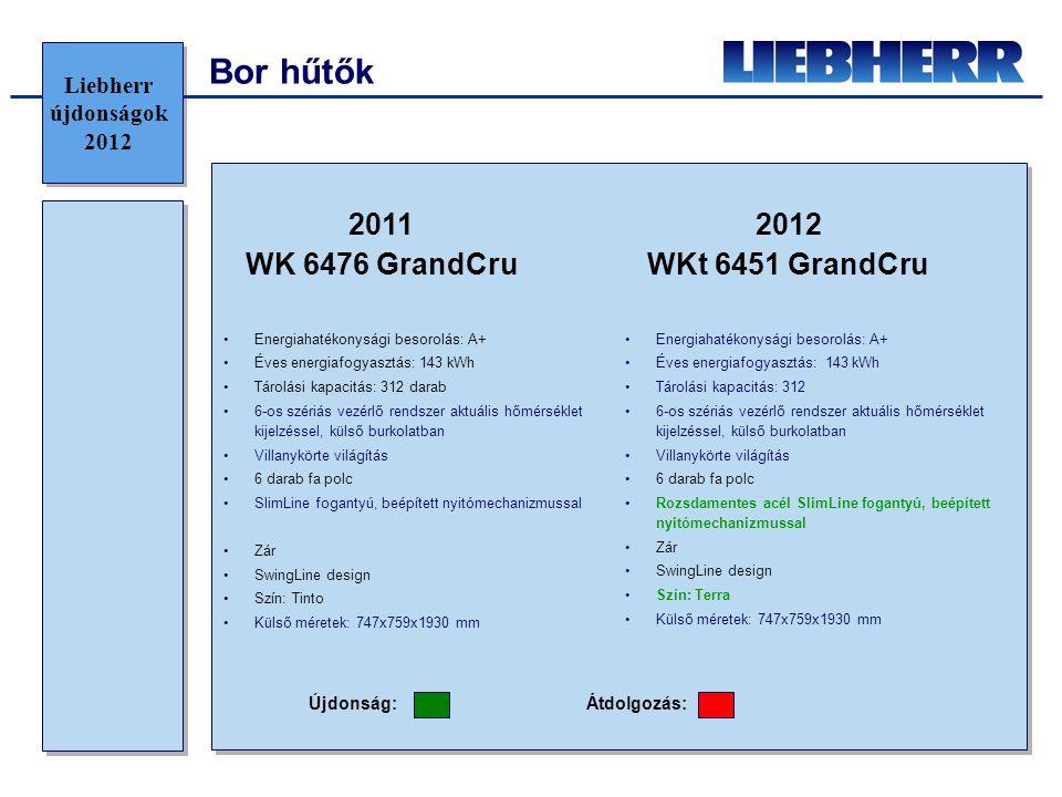 Bor hűtők 2011 WK 6476 GrandCru 2012 WKt 6451 GrandCru