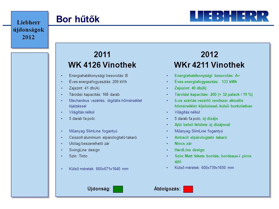 Bor hűtők 2011 WK 4126 Vinothek 2012 WKr 4211 Vinothek