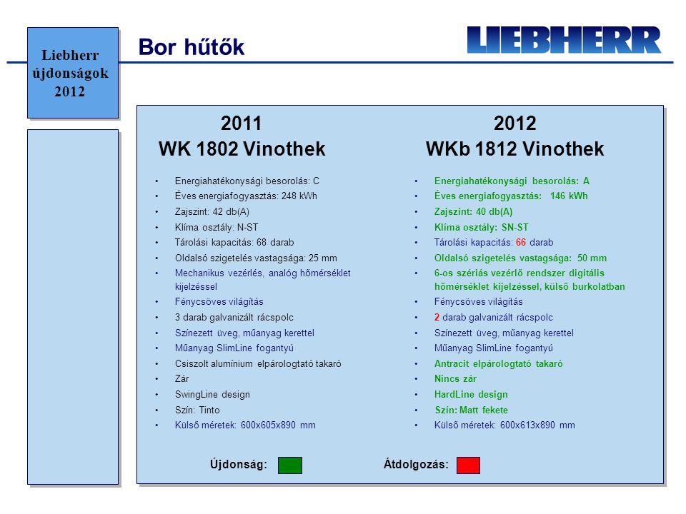 Bor hűtők 2011 WK 1802 Vinothek 2012 WKb 1812 Vinothek
