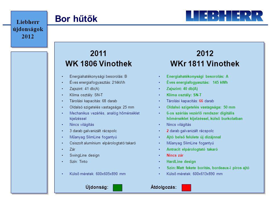 Bor hűtők 2011 WK 1806 Vinothek 2012 WKr 1811 Vinothek