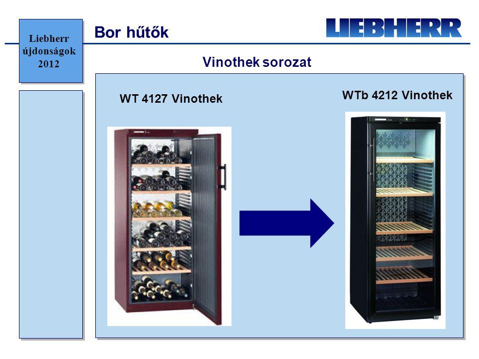 Bor hűtők Vinothek sorozat WTb 4212 Vinothek WT 4127 Vinothek