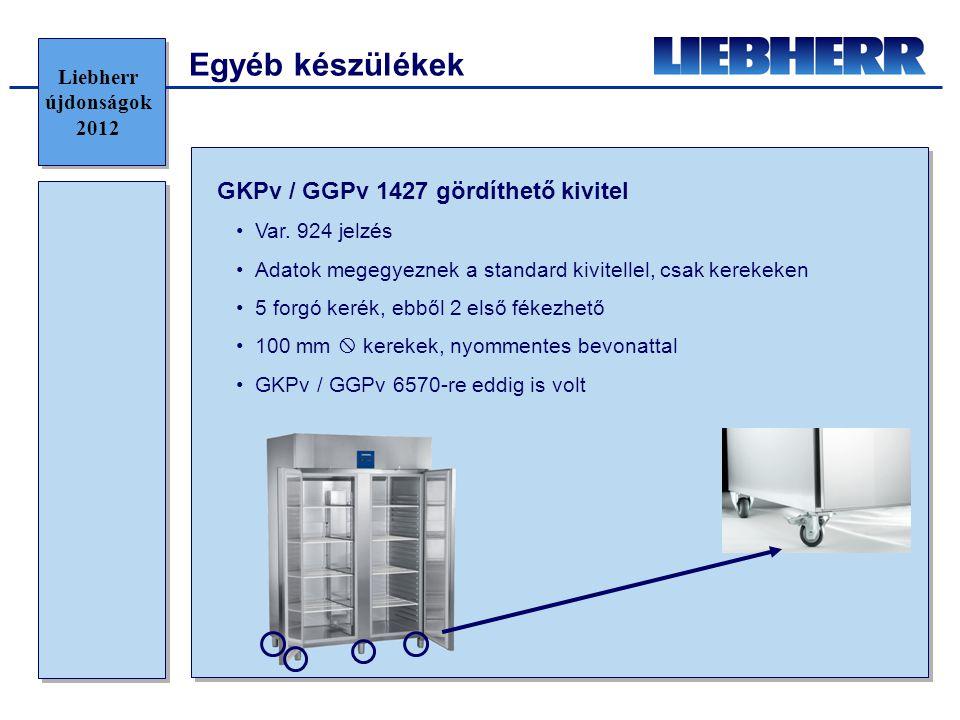 Egyéb készülékek GKPv / GGPv 1427 gördíthető kivitel