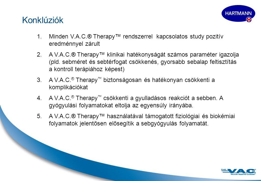 Konklúziók Minden V.A.C.® Therapy™ rendszerrel kapcsolatos study pozitív eredménnyel zárult.