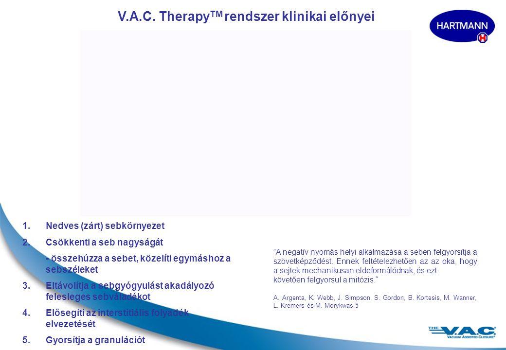 V.A.C. TherapyTM rendszer klinikai előnyei