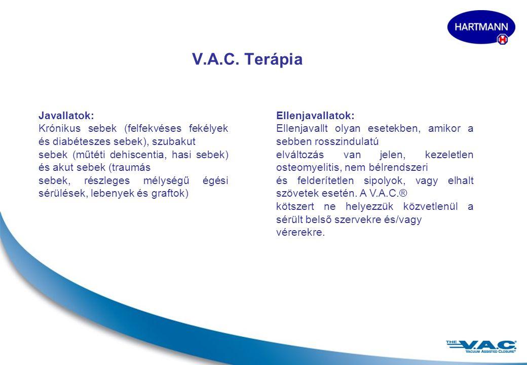 V.A.C. Terápia Javallatok: