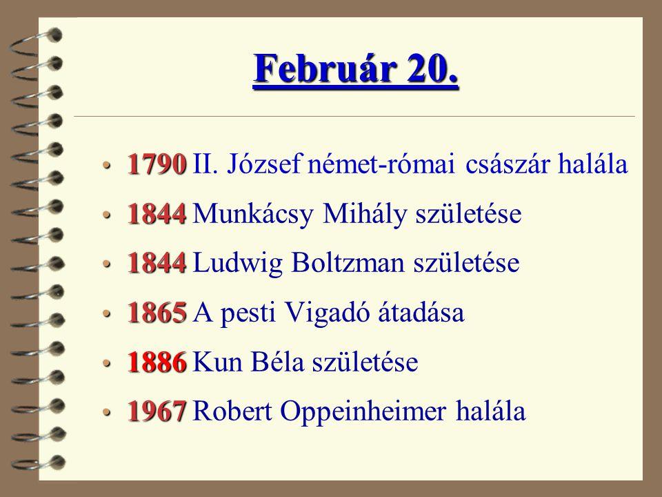 Február 20. 1790 II. József német-római császár halála