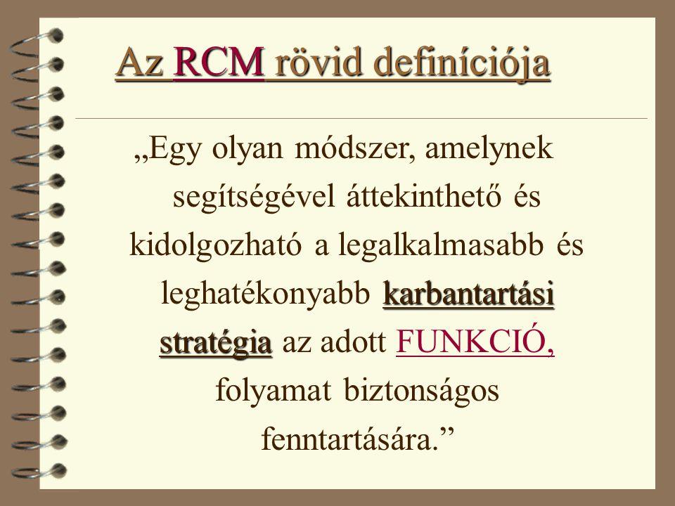 Az RCM rövid definíciója