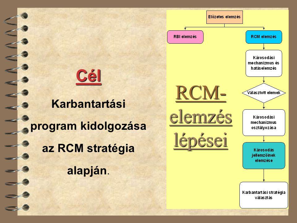 az RCM stratégia alapján.