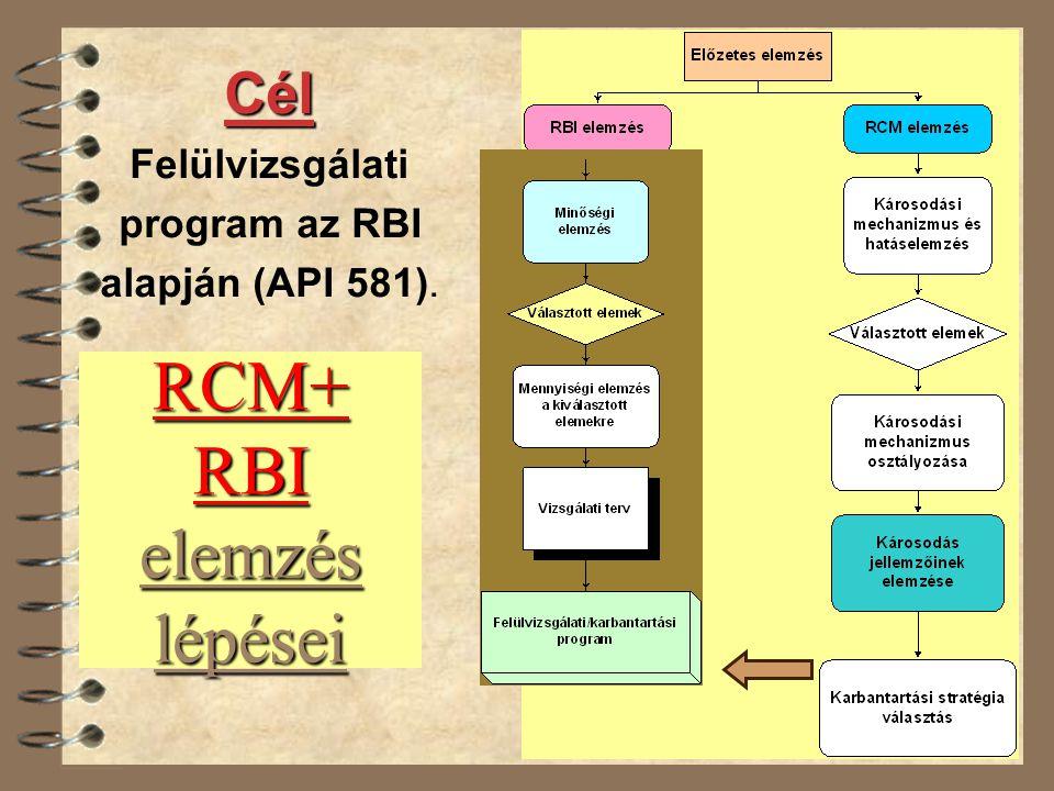 RCM+ RBI elemzés lépései