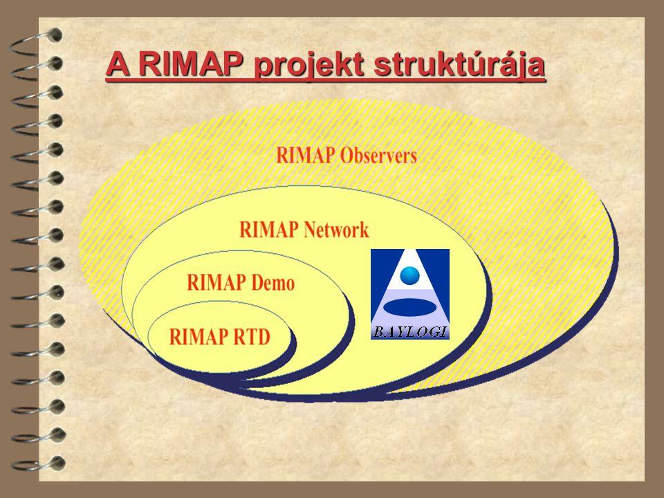 A RIMAP projekt struktúrája