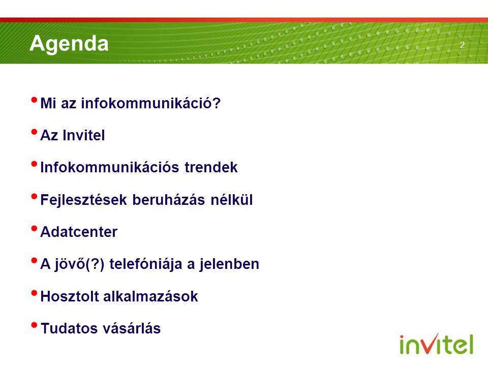 Agenda Mi az infokommunikáció Az Invitel Infokommunikációs trendek