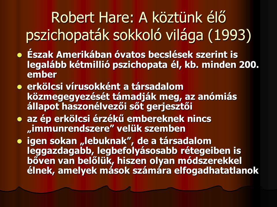 Robert Hare: A köztünk élő pszichopaták sokkoló világa (1993)
