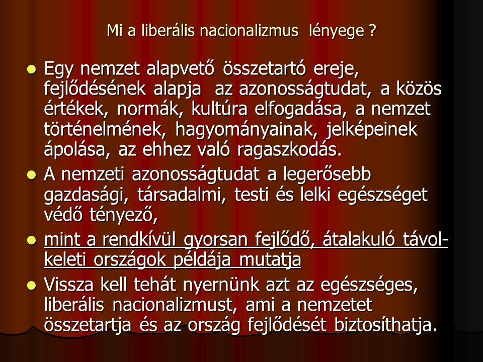 Mi a liberális nacionalizmus lényege