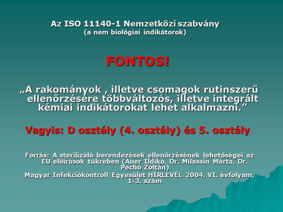 Az ISO 11140-1 Nemzetközi szabvány