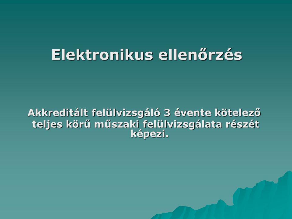 Elektronikus ellenőrzés
