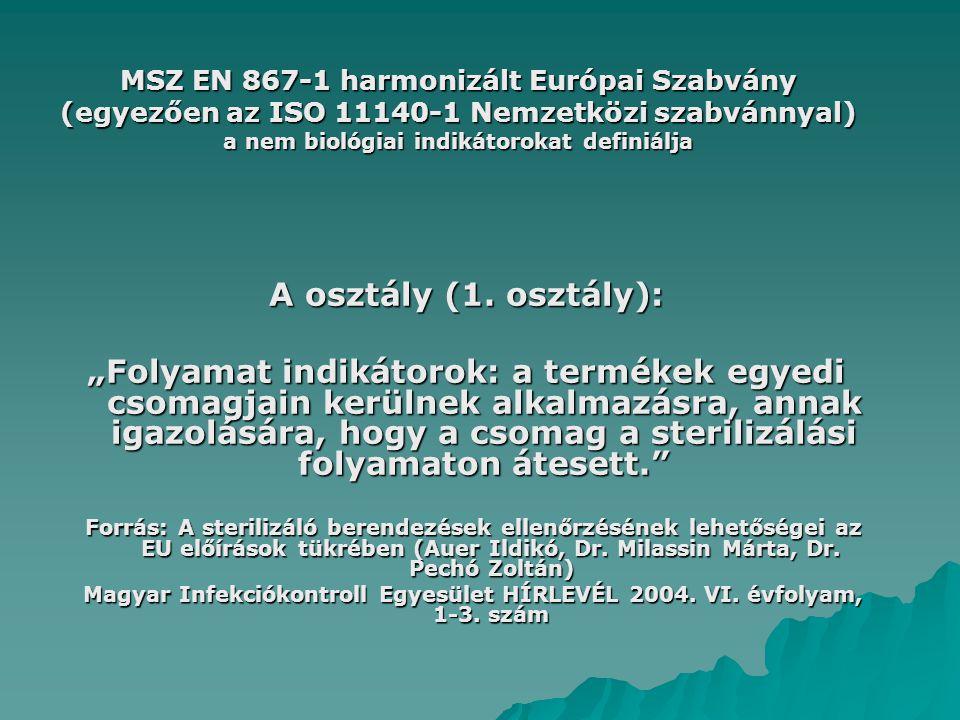 MSZ EN 867-1 harmonizált Európai Szabvány