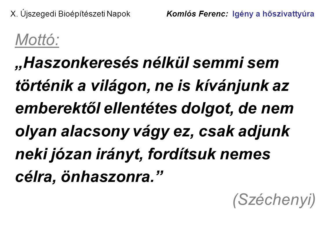 X. Újszegedi Bioépítészeti Napok Komlós Ferenc: Igény a hőszivattyúra
