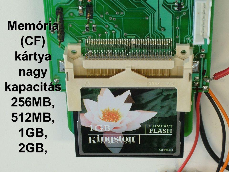 Memória (CF) kártya nagy kapacitás 256MB, 512MB, 1GB, 2GB,