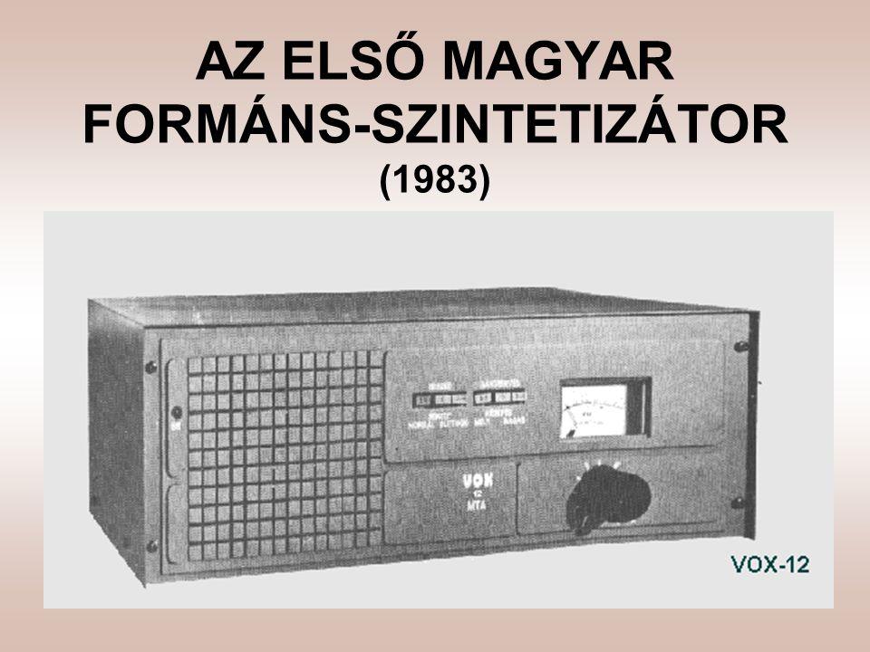 AZ ELSŐ MAGYAR FORMÁNS-SZINTETIZÁTOR (1983)