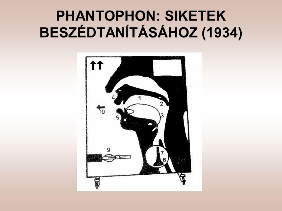 PHANTOPHON: SIKETEK BESZÉDTANÍTÁSÁHOZ (1934)