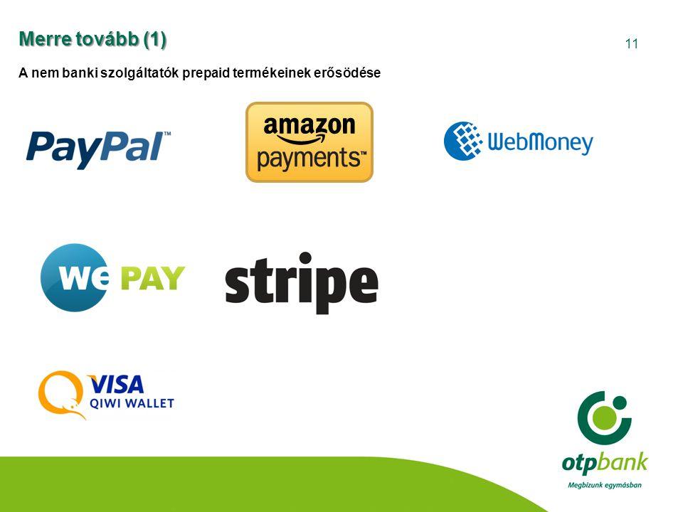 Merre tovább (1) A nem banki szolgáltatók prepaid termékeinek erősödése