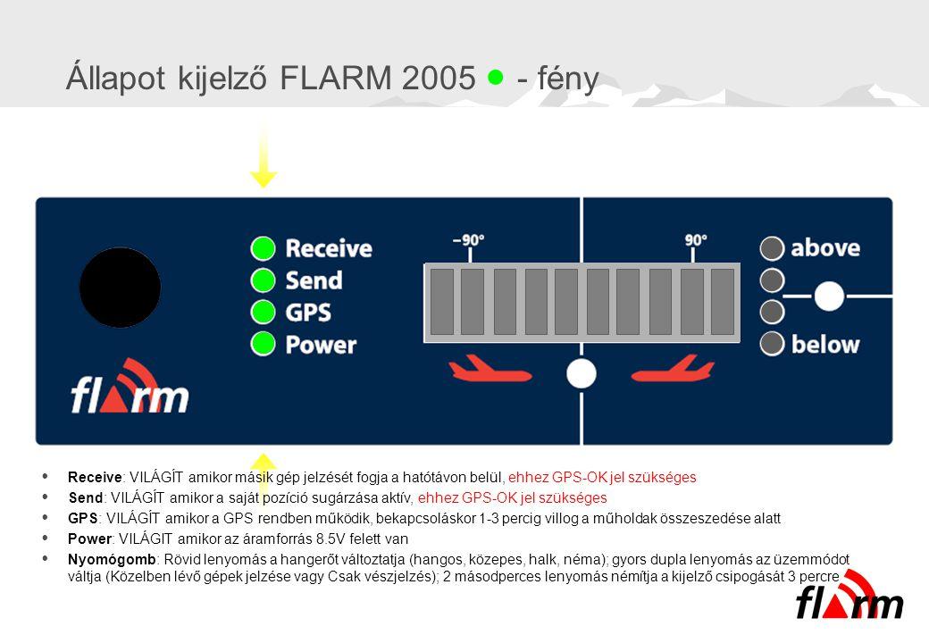 Állapot kijelző FLARM 2005  - fény