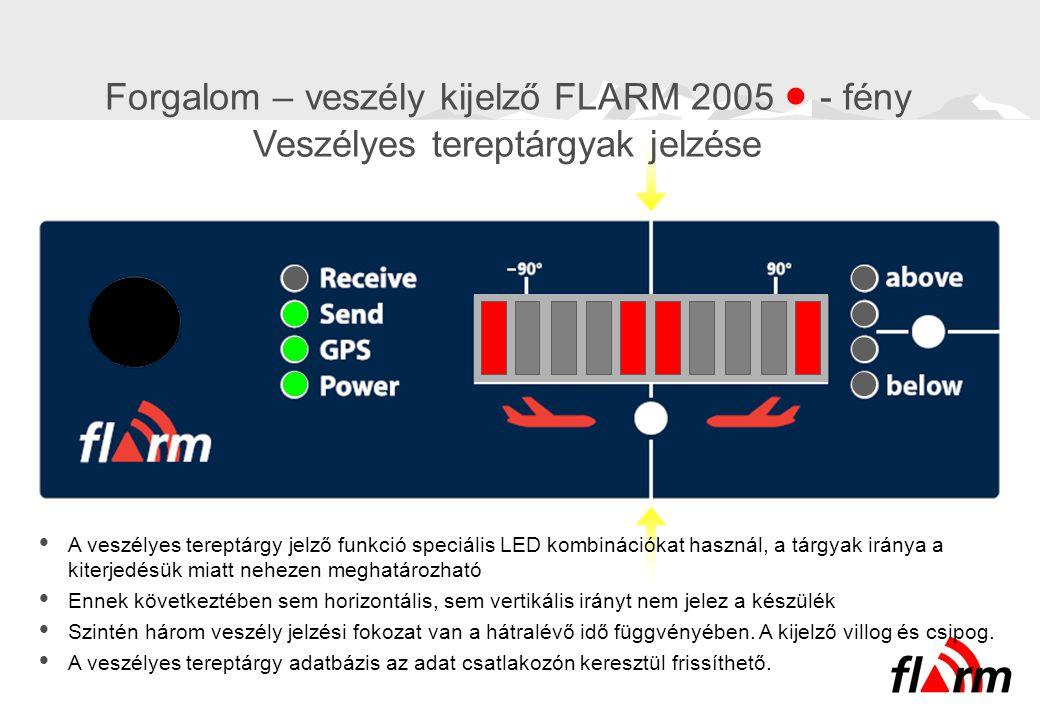 Forgalom – veszély kijelző FLARM 2005  - fény Veszélyes tereptárgyak jelzése