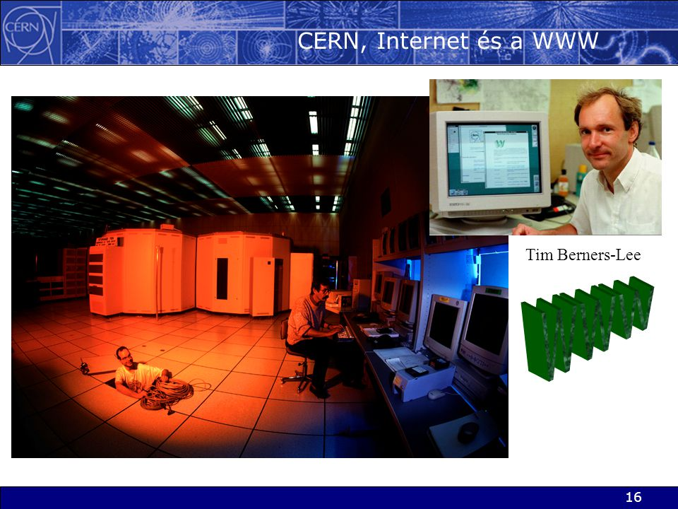 CERN, Internet és a WWW Tim Berners-Lee WWW
