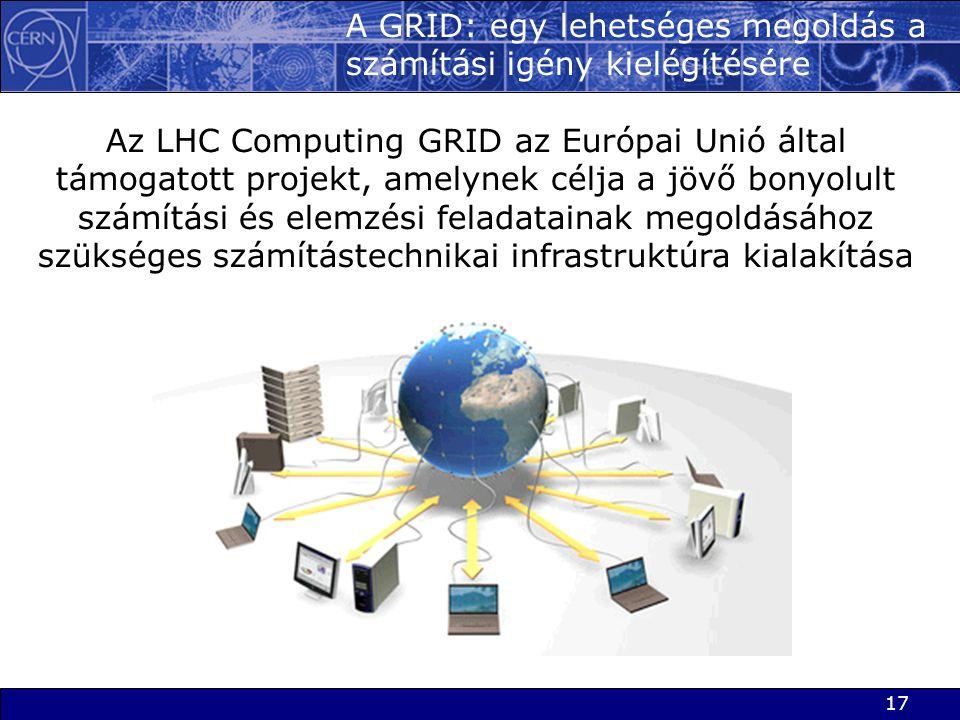 A GRID: egy lehetséges megoldás a számítási igény kielégítésére