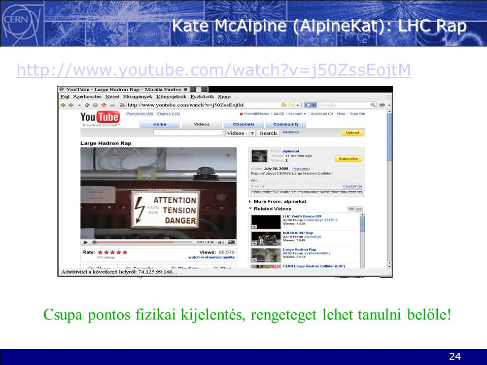 Kate McAlpine (AlpineKat): LHC Rap