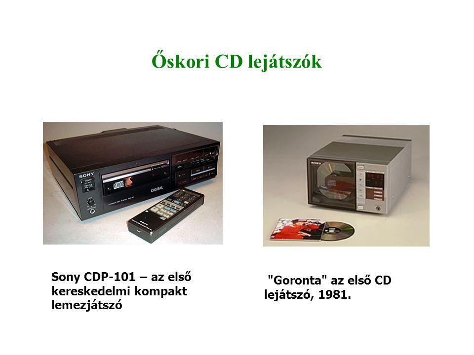 Őskori CD lejátszók Sony CDP-101 – az első kereskedelmi kompakt lemezjátszó.