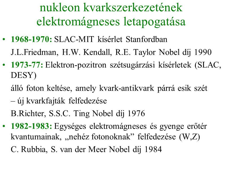 nukleon kvarkszerkezetének elektromágneses letapogatása