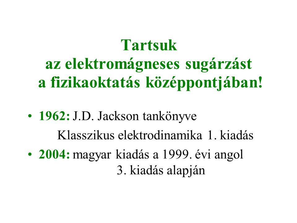 Tartsuk az elektromágneses sugárzást a fizikaoktatás középpontjában!