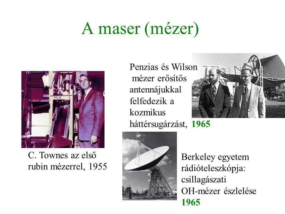 A maser (mézer) Penzias és Wilson