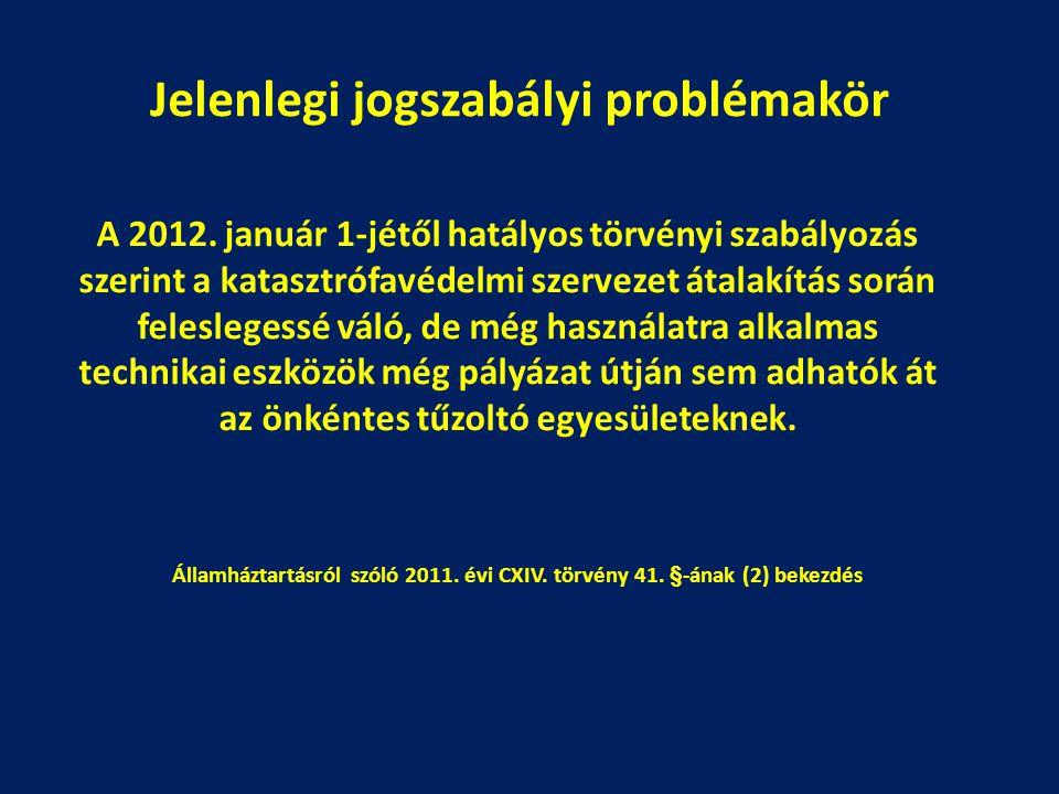Jelenlegi jogszabályi problémakör