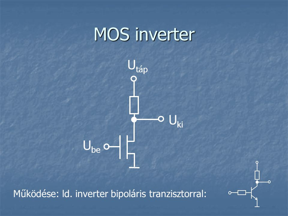 MOS inverter Utáp Uki Ube