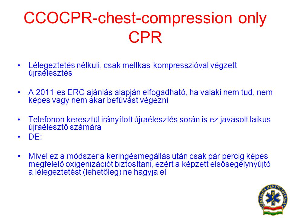 CCOCPR-chest-compression only CPR