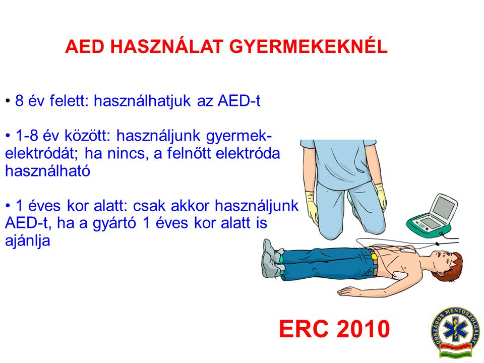 AED HASZNÁLAT GYERMEKEKNÉL