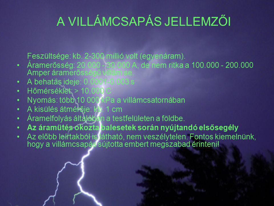A VILLÁMCSAPÁS JELLEMZŐI