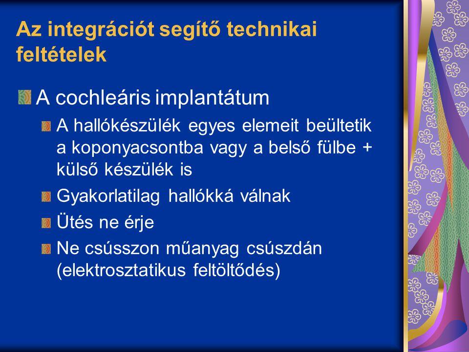 Az integrációt segítő technikai feltételek