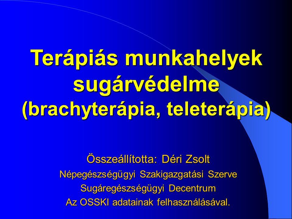Terápiás munkahelyek sugárvédelme (brachyterápia, teleterápia)