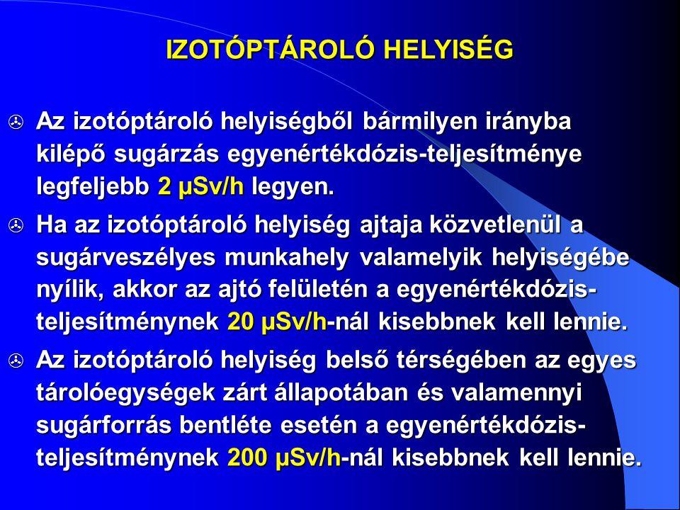 IZOTÓPTÁROLÓ HELYISÉG