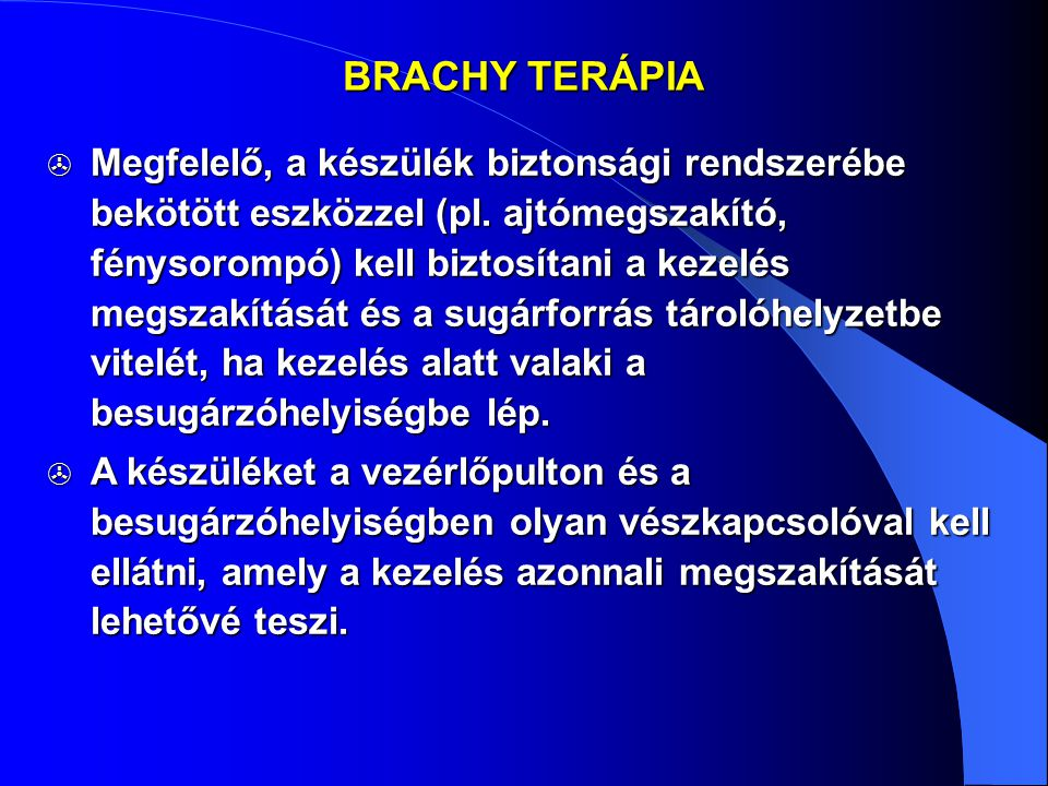 BRACHY TERÁPIA