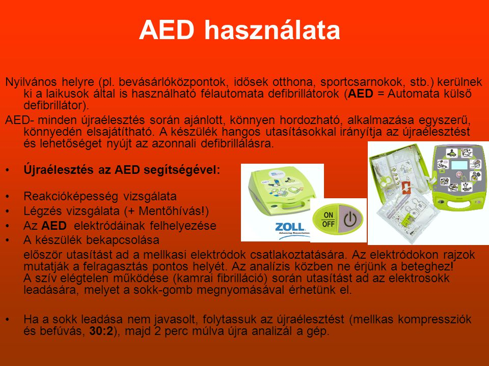 AED használata