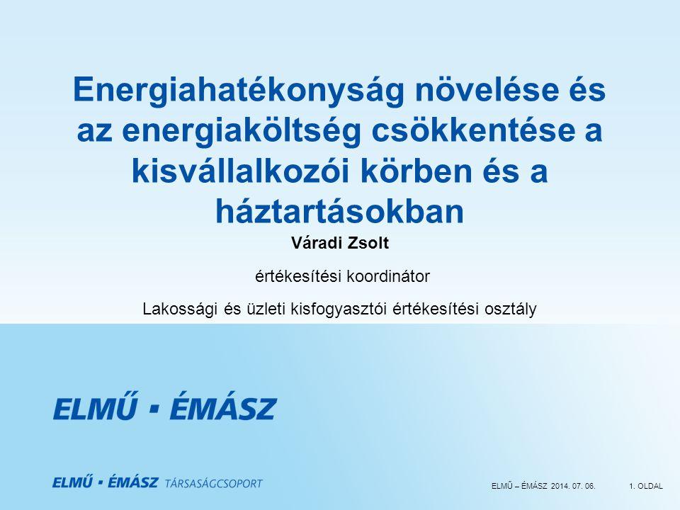 Energiahatékonyság növelése és az energiaköltség csökkentése a kisvállalkozói körben és a háztartásokban