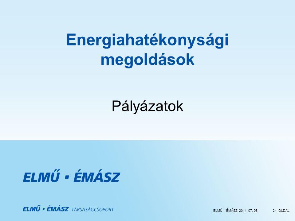 Energiahatékonysági megoldások