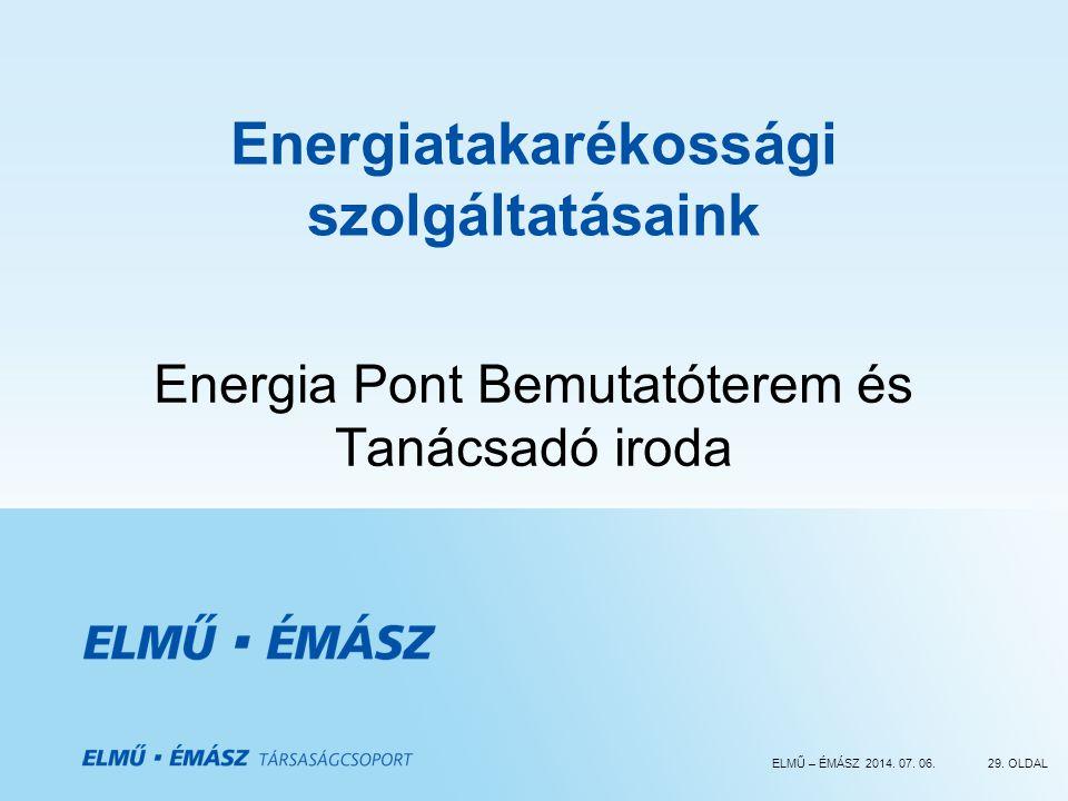 Energiatakarékossági szolgáltatásaink